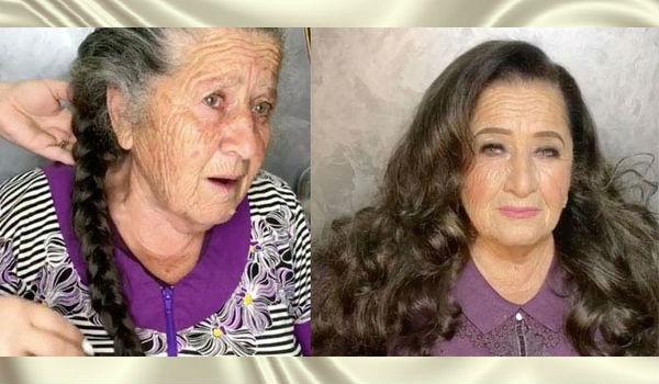 Бабушка приехала в гости к внучке, а та изменила её внешность