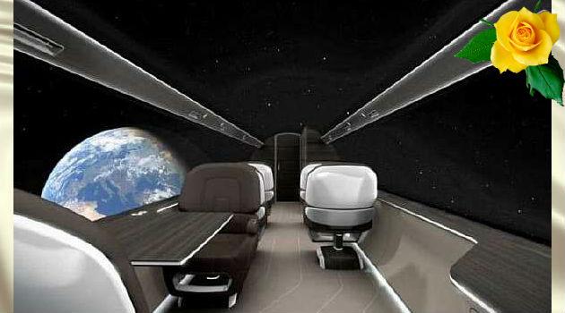 Самолёт будущего с отсутствием окон.