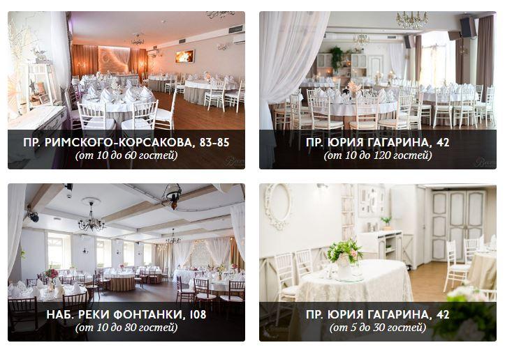 Лучшие рестораны для свадьбы в Санкт Петербурге
