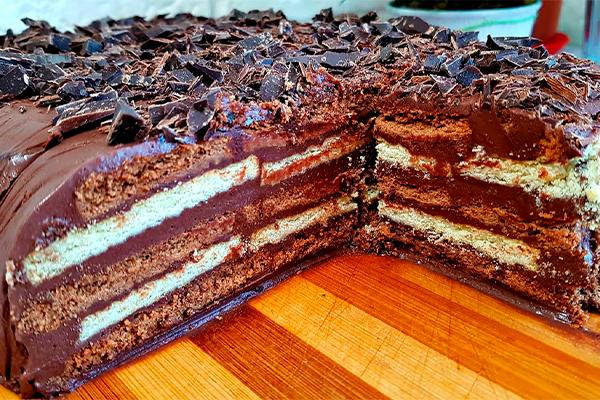 Трюфельный торт без выпечки всего за 15 минут! Вкуснятина на скорую руку